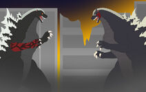 King of the monsters vs god of destruction by pyrus leonidas-d9yc1ao