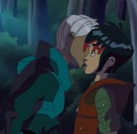 Ray and Alakshmi kiss