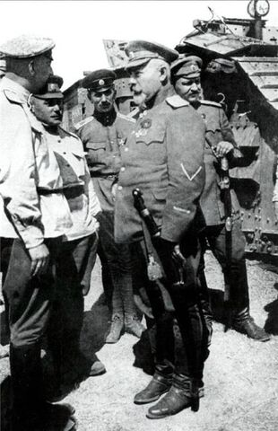File:Denikin in tank detachment of White Movement.jpg