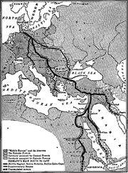 Berlin Baghdad Railway Map