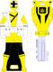 Super shinken yellow ranger key by signaturefox2013-d8g3nmh
