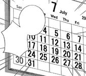Calender July 200X
