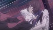 Mizuki hugging Kurama while crying
