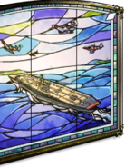 Aircraft carrier stained glass
