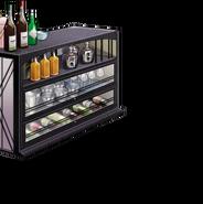 Liquor and wine shelf