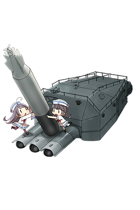 61cm Triple (Oxygen) Torpedo Mount 125 Full