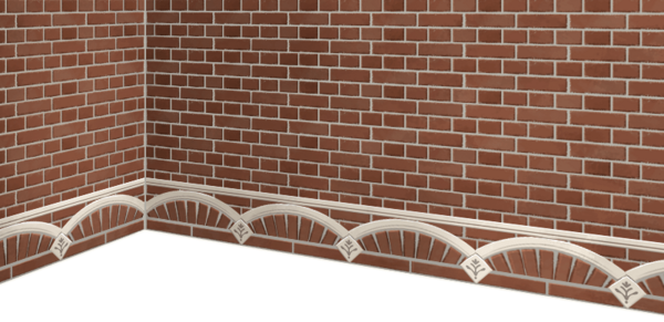 High-quality red brick wall