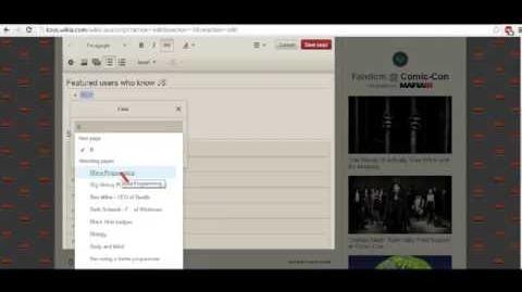 KAOS Wikia-Internal links