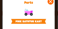 Pink bathtub kart