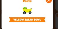 Yellow salad bowl kart