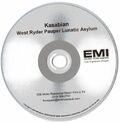 West Ryder Pauper Lunatic Asylum Album Promo CD-R (EMI USA) - 1