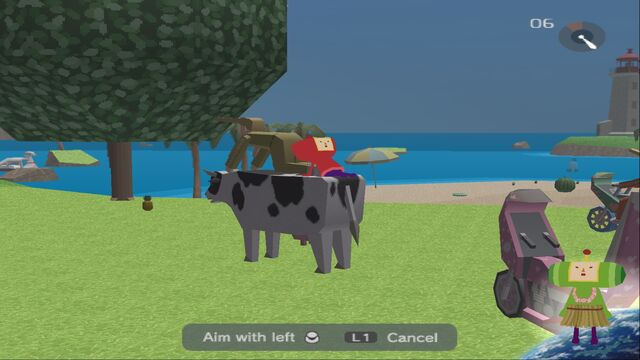 File:Miso enjoying her joyride on a cow and a local citizen..jpg