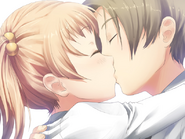 Emi and Hisao kiss