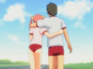 Emi and Hisao keep walking