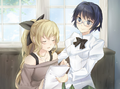 Lilly and Shizune work together.png
