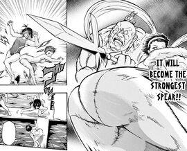 Yoshida uses Butt of Vajra