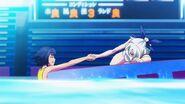 Rin shakes Miyata's hand (Anime)
