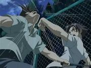 Kenichi's one arm