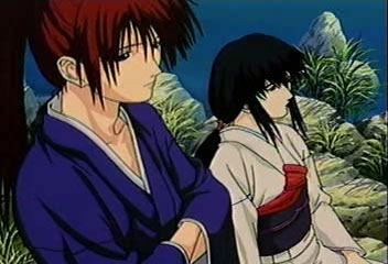 File:Kenshin and Tomoe at Lake Biwa.jpg