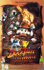 Ash's Adventures of DuckTales the Movie Treasure of the Lost Lamp poster