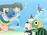 Poyon, Keroro and Tamama in Episode 71