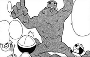 The clay monster in the manga