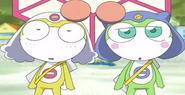 Karara and Chiroro's unamused faces