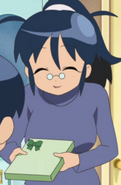 Mommy Aki in a sweater
