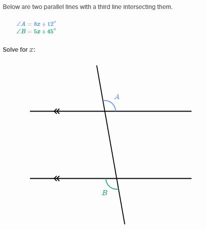 Equation practice with congruent angles | Khan Academy Wiki ...