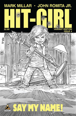Hit-Girl cover of issue 4