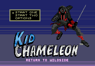 Kid Chameleon Return to Wildside intro screen