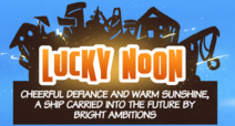 Lucky noon into card