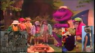 Kids World's Adventures of Barney's Campfire Sing Along (crossover)