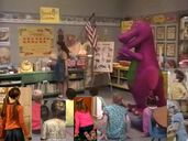 Kids World's Adventures of Barney Goes To School (crossover)