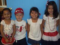 Dina, Chankie, Chantella, and Fiona