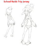 Nonon Jakuzure body (School Raids Trip Jersey sketch)