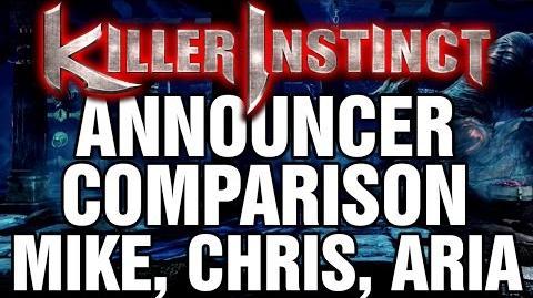 KILLER INSTINCT Announcer Comparison 2015 - Mike, Chris, Aria