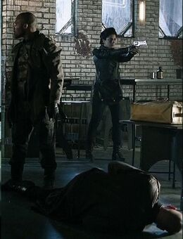 One of Kal Csoort's gang using a Rhino 50DS S01E08 015
