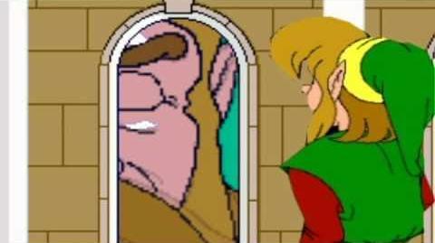 The king devours Link