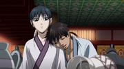 Shin Sleeps On Kyou Kai's Shoulders anime S2