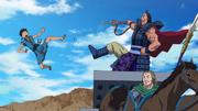Ou Ki Kicks Shin Off The Cliff anime S1