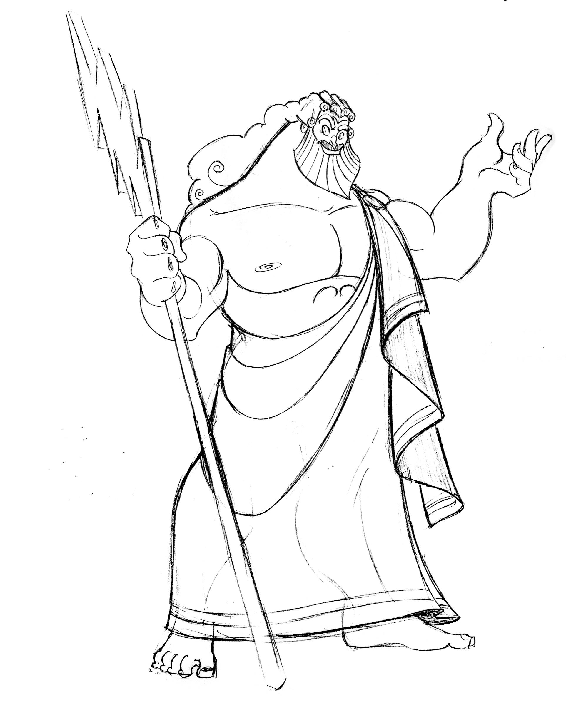 greek gods coloring pages zeus - photo#29
