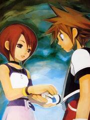 Kingdom hearts kairi and sora by Mel4Vincent max600