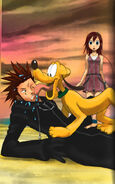 Axel Pluto and Kairi by fridayivy
