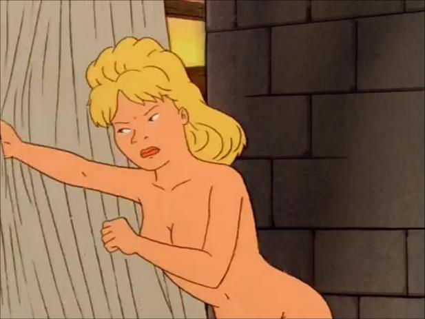 Naked women having the anus cleaned
