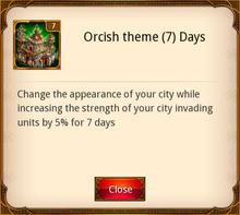 Orcish Theme 7 Days
