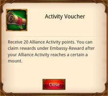 Activity Voucher