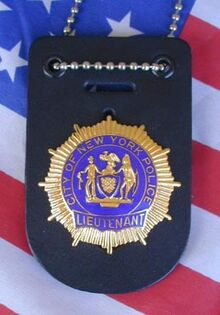 Lieutenant (nypd) badge