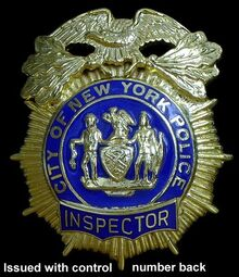 Inspector (nypd) badge