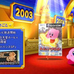 Una colección de todos los juegos de Kirby (por año).